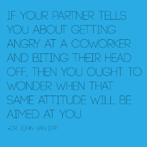 bad attitude in a partner